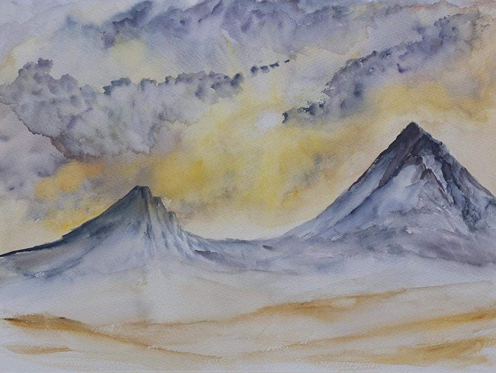 Sunset Mountain Peaks 72dpi