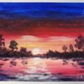 Sunset (acrylic)
