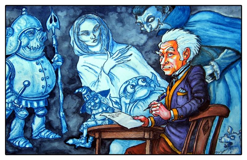 The man who wrote Fantasy Books-small