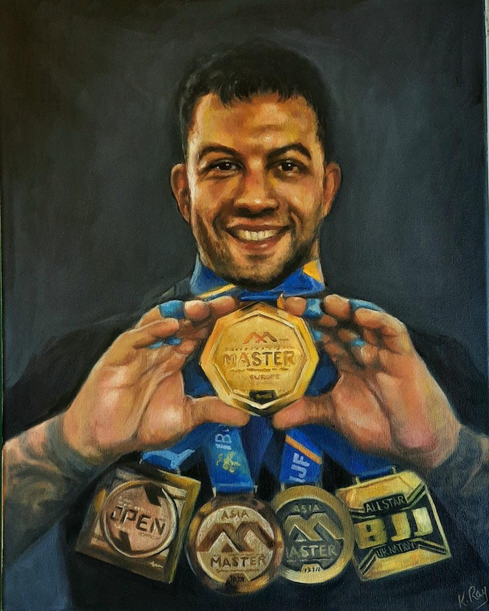 Tony painting