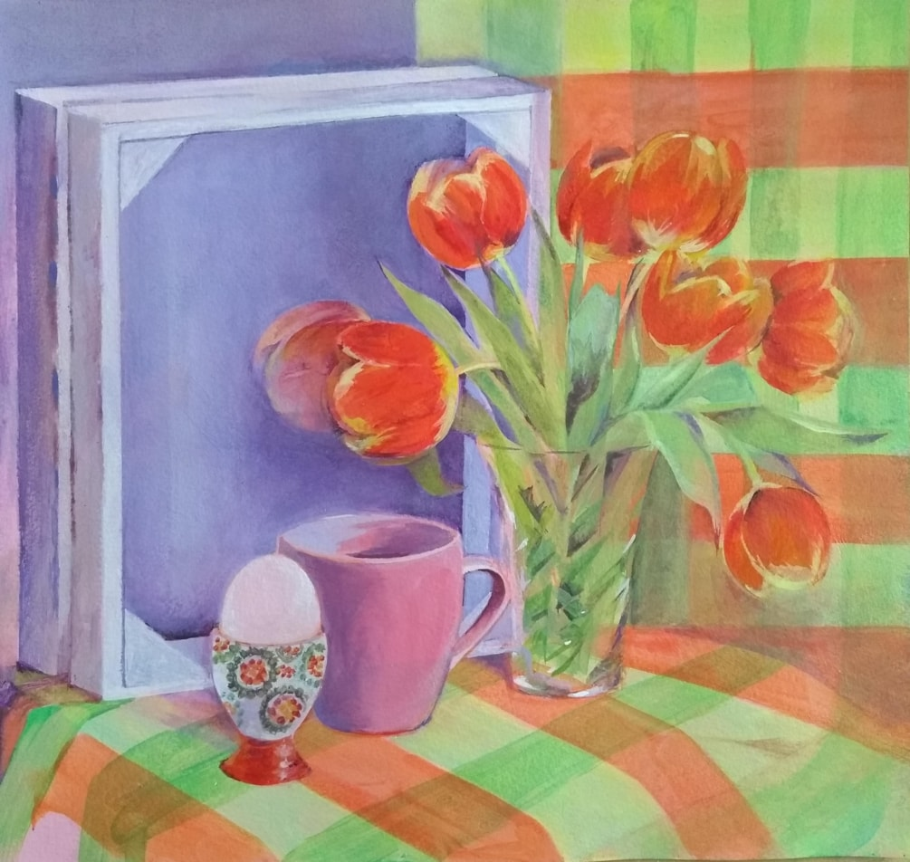 Tulips, Tea and Egg cup
