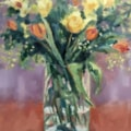 Tulips and Yellow roses