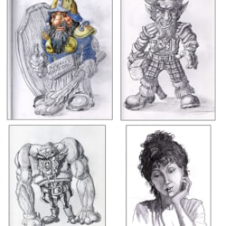 Various sketches-A4 & A5 sketchbooks