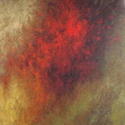 Vermillion Atmospheric 2021 24 x 24, oil on canvas 800 x 800