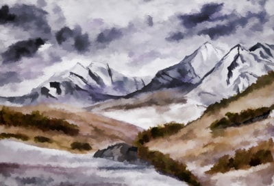 View of Snowdon in Autumn digitally modified