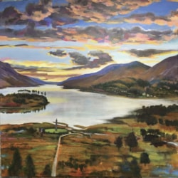 View over Glen Finnan and Loch Shiel