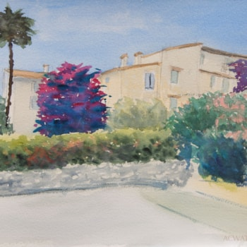 Village de La colle sur Loup, 23x31cm, 2019. ACWATERCOLORS. 72