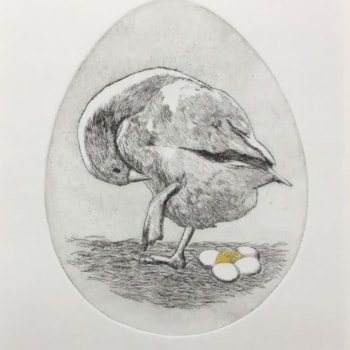 Was that me black etching by Margaret Mallows