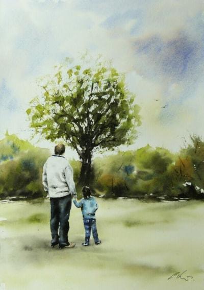 Watercolour by Graham Kemp
