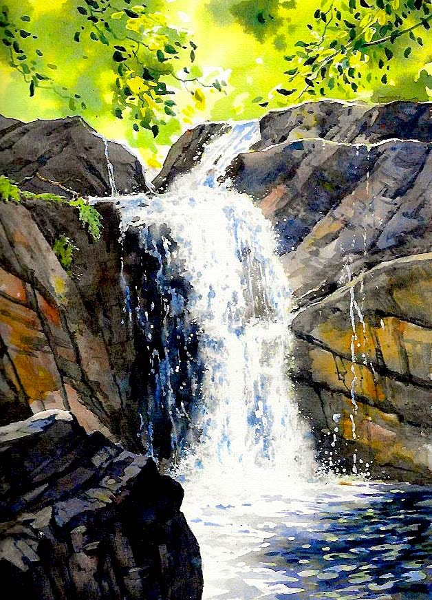 Waterfall. Lesley Linley