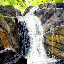 Waterfall. Lesley Linley