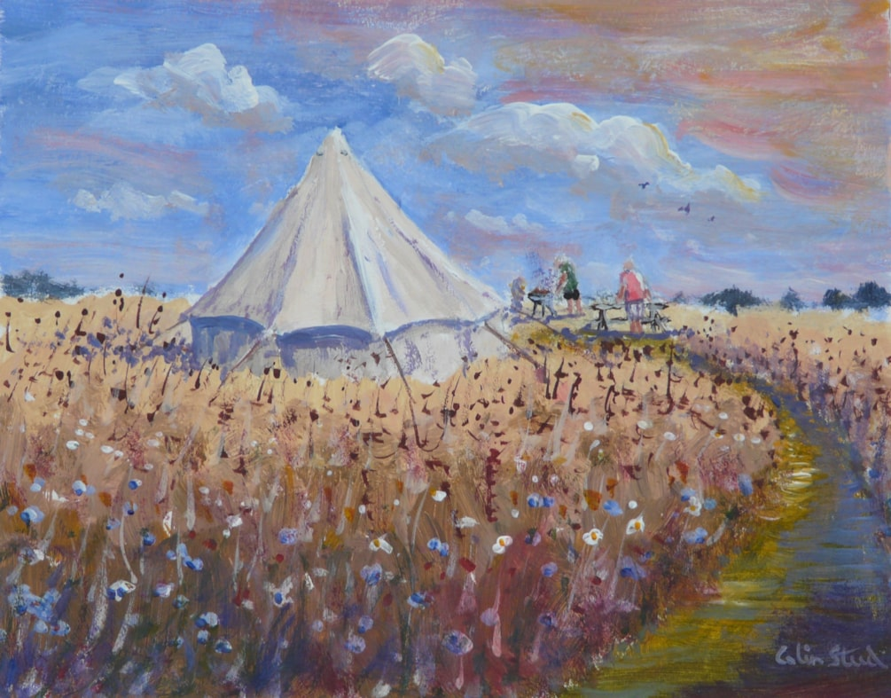 Wild Flowers and Tent.