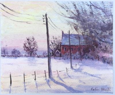 Winter at Wood Farm, Galleywood (acrylic)