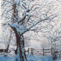 Winter scene. Watercolour by John Shipley