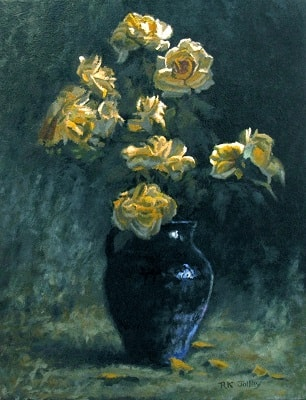 Yellow Roses, 14 x 18, oil on canvas, 2020, 306 x 400