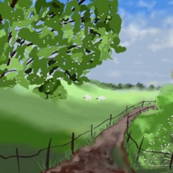 Green grass.  Digital again.