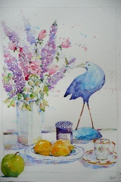 Blue Bird Still Life