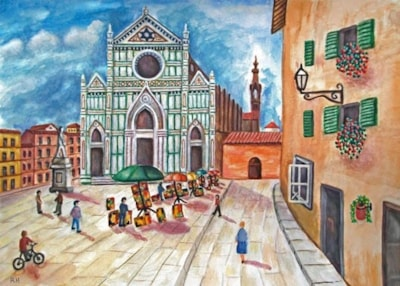 Painters in the Piazza - Florence