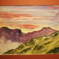 """Scafells from Crinckle Crags. watercolour 8x10"""""""