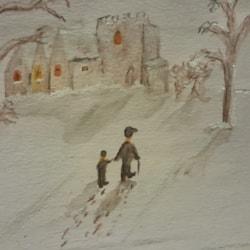 1st ever snow scene