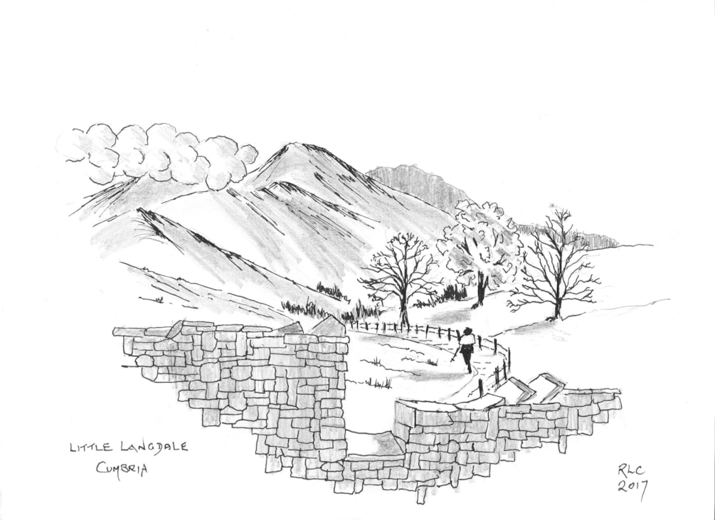 Over the stile to Little Langdale