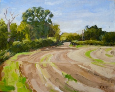 Barley stubble field, Sweffling, Suffolk