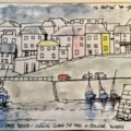 Mevagissey Harbour, Cornwall in winter