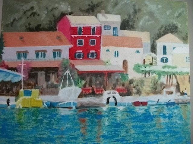 Greek island harbour