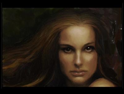 "Natalie Portman as ""The Black Swan"""