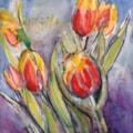 Tulips in Rosie's kitchen