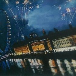 Fireworks over the london eye