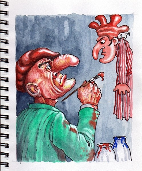 The creator of Mr Punch.
