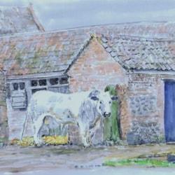 Barn with blue door