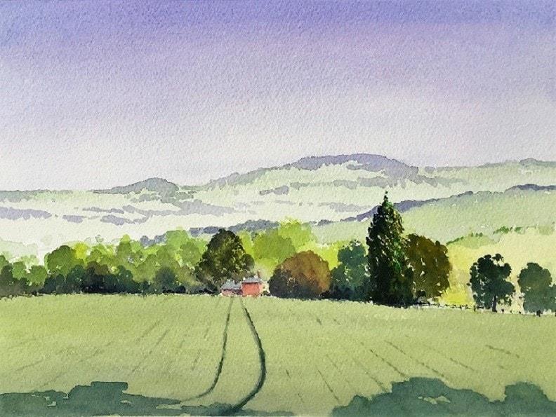 Towards Panbrook Llangarron
