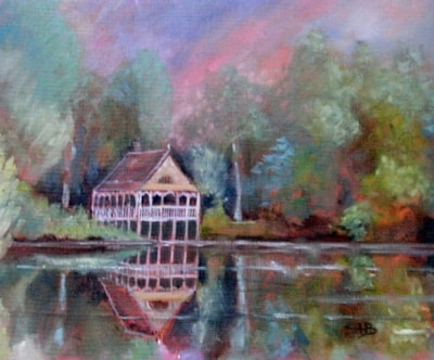 Boathouse On The Lake