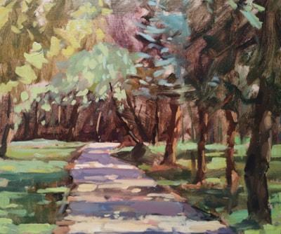 Through the Sunlit Trees