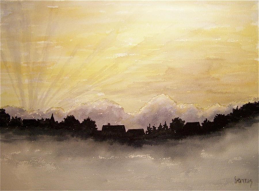 Sunset over Blankenberge