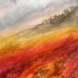 Strange light over Curbar Rocks Derbyshire