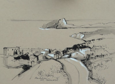 Cumbre del Sol - Plein air sketch.
