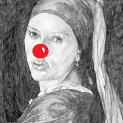 girl with a red nose