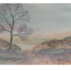 Snow scene?? from Colin Steed article in Jan. Leisure Painter