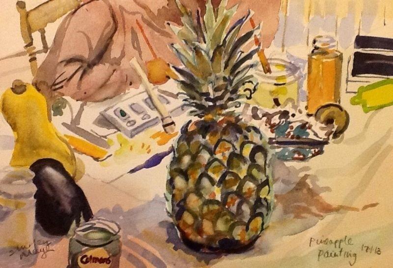 Pineapple Painting