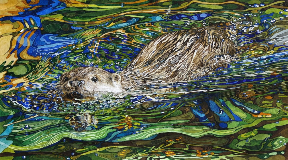 Otter on a mission