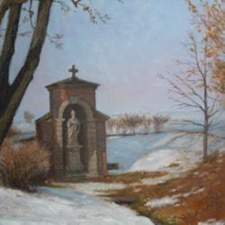 Winter,Chapel in the fields