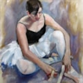 DANCER TYING HER SHOES
