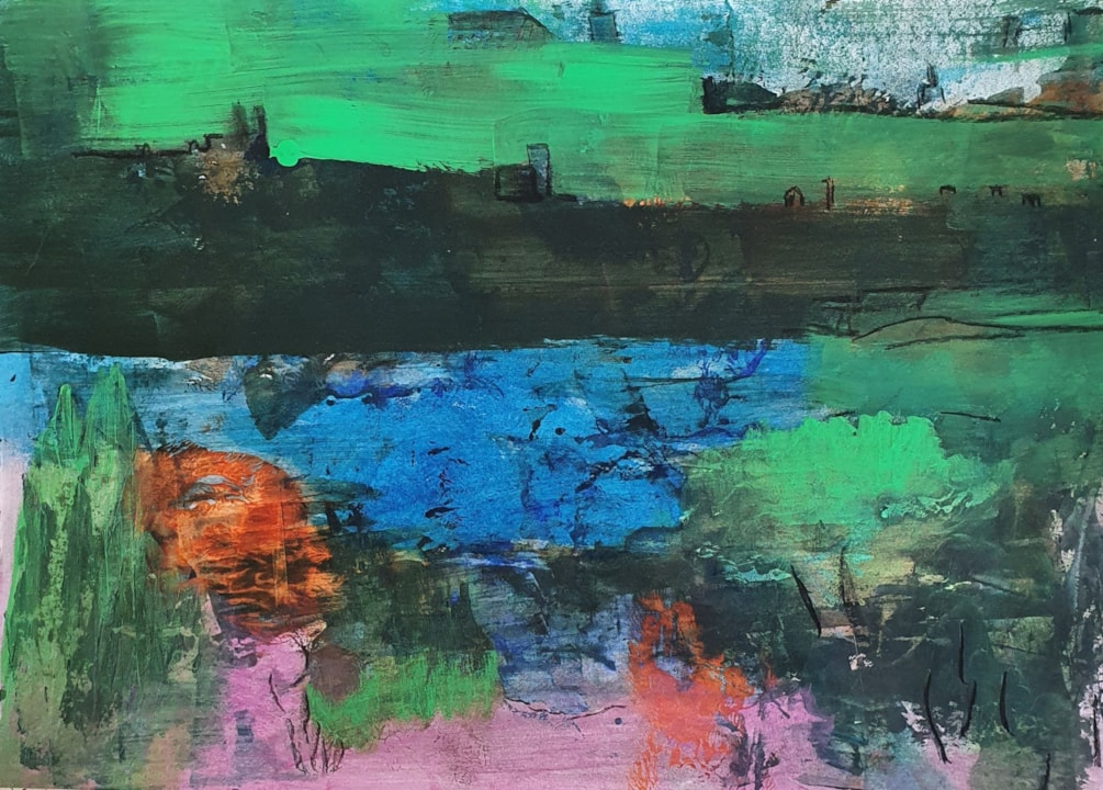 abstract landscape january
