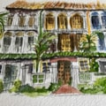Singapore sketch - Shop houses