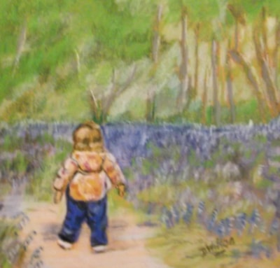 Toddle among the bluebells