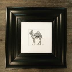 Henna patterned camel