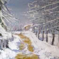Neve presso Senatello  (Leonetta Rossi Painter ) snow near Senatello